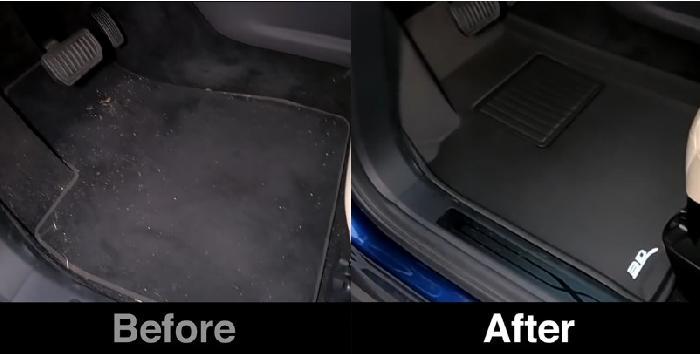 【Before & After】3D® Kagu Floor Mats Coverage Comparison